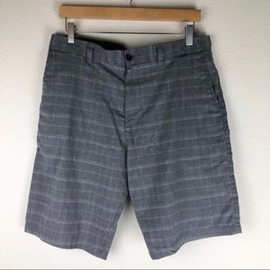 Hurley Gray Flat Front Shorts Size 32